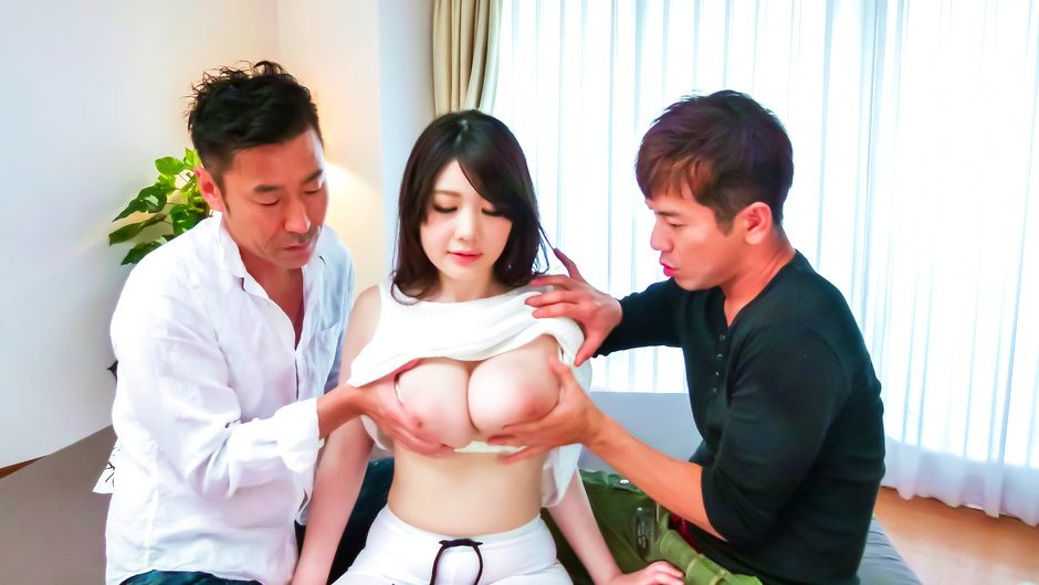 Rie Tachikawa gets a creampie after japanese group sex