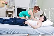 Big tits Asian woman pleases with cock in serious scenes  Photo 8
