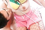 Stacked Yuu Uehara Creampied In Red Fishnets Photo 11