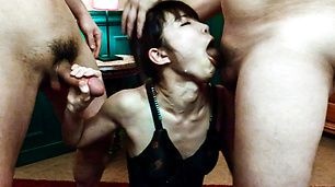 Megumi Shino giving warm asian blowjob stimulation
