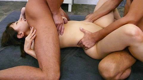 A japanese blow job earns her a...