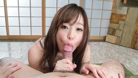 Superb Asian blwjob in POV with Shiona Suzumori