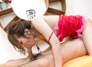 Japanese Av Teen - Araki Hitomi Asian witn nasty jugs out of bra rides hard phallus