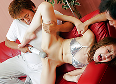 Ai the Japanese chick has her cunt used for toy play