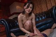 Hottie with peachy Asian tits sucks cock until exhaustion  Photo 1