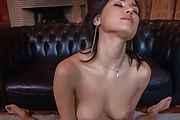Hottie with peachy Asian tits sucks cock until exhaustion  Photo 9