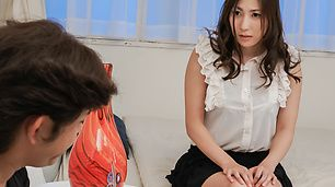 Mirei Yokoyama gives hot japanese blowjob