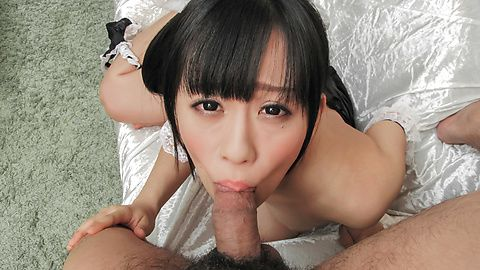 Asian Yui Kyouno sucks hard dick...