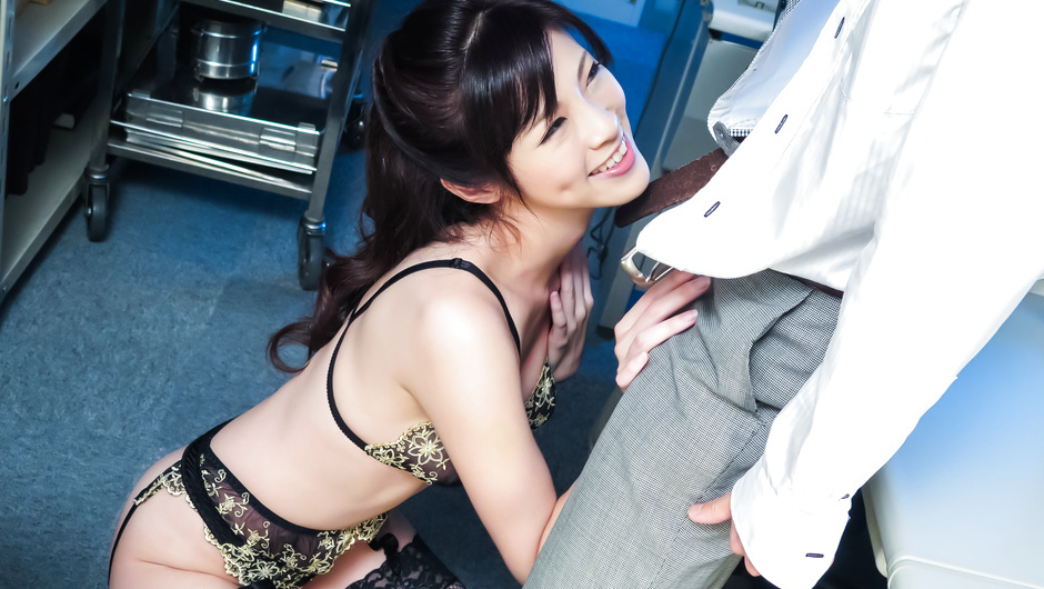 Horny Asian milf amazes with her cock sucking skills