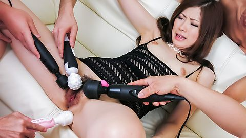 Rina Koda gets fucked in group...