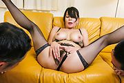 Japanese milf blows cock and swallows in the end  Photo 1