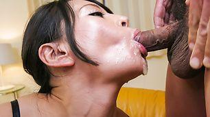 Busty Japanese milf amazing Asian blowjob