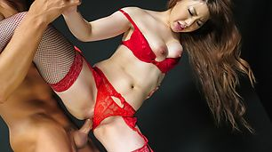 Milf in Japanese stockings fucked until exhaustion