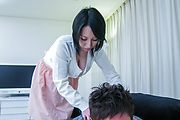 Yuuna Hoshisaki's huge asian tits urge him to cream her Photo 1