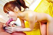 Petite Asian babe Miina Yoshihara gets deep fingering Photo 8