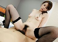 Japanese offce chick fucked hard and loaded with man-naise