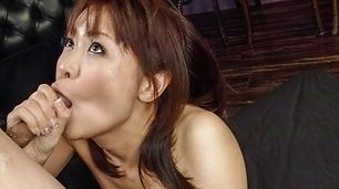 Dashing blowjob with steamy Asian beauty Maika