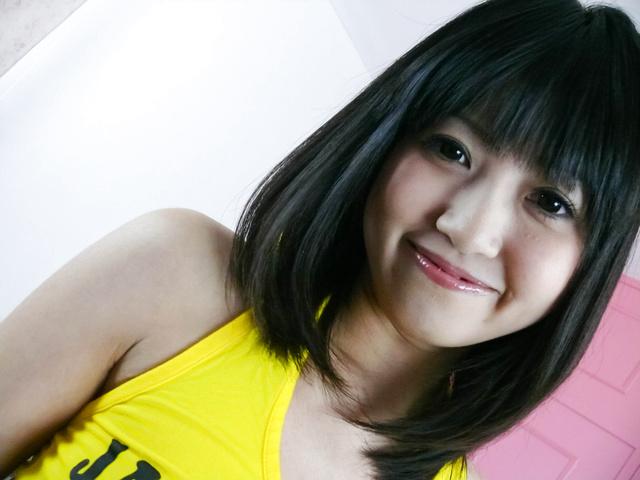 Kotomi Asakura with big asian tits masturbates and gives head Photo 1