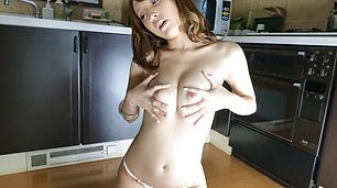 Hikaru Shiina Gets Out Of Her Panties To Masturbate