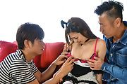 Japanese group sex with obedient Maki Horiguchi Photo 4