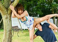 Premium outdoor sex scenes with nude Yuuka Kaede