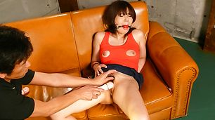 Asian milf, Karen Natsuhara, obeys in nasty porn play
