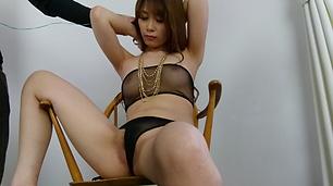 Asian lingerie beauty, Rika Aiba, enjoys warm pleasures