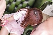 Asian blowjobin threesome with Miyu Aoi Photo 3