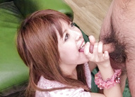 Asian blowjob in threesome with...