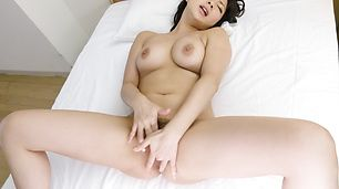 Big tits Megumi Haruka provides amazing solo