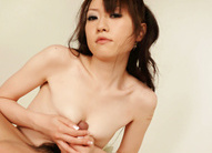 Ryo Kaede Asian takes boner between titties before licking it