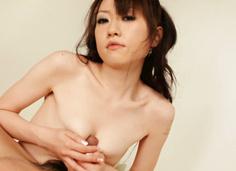 Sensual Ryo Kaede gives a cock a specia hand, foot and tits treatment