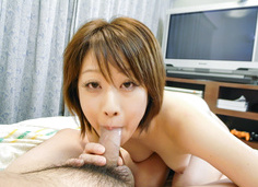 Haruka Sasano gets a sticky creampie in asian blowjob movies