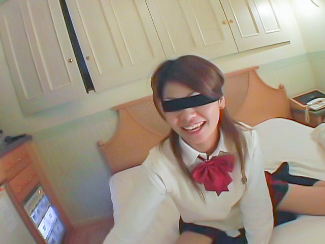 Asian blowjobs by kinky Japanese schoolgirl Miho Photo 1