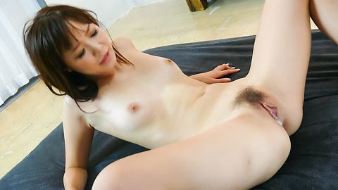 Momoka Rin's hairy asian snatch creampied