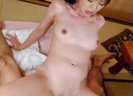 Marika's japan girl blowjob ends in a pussy creampie