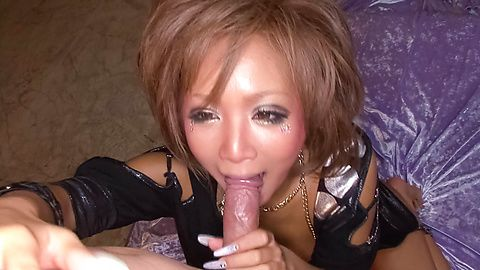 Cock hungry busty Asian babe...