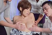 Big tits Japanese wife sucks cock like a true goddess  Photo 11