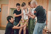 Big tits lady enjoys oral sex with two men Photo 11