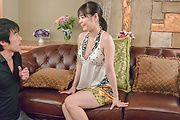 Big tits lady enjoys oral sex with two men Photo 9
