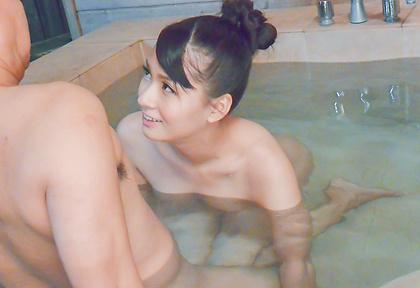 Asian amateur sucks cock in perfect scenes