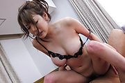 Akari Asagiri Gets Double Penetration In A Gangbang Photo 1