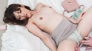 Peachy tits japanese milf gets it hard and fast