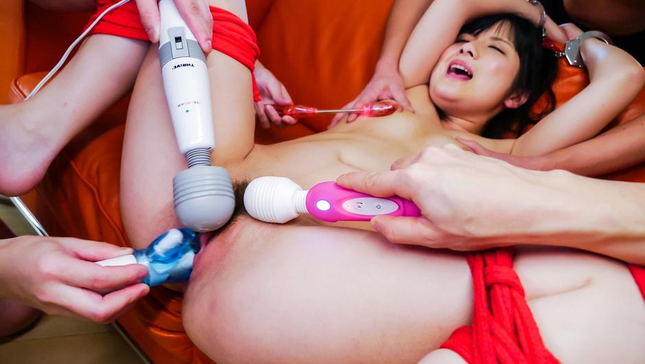 マッパでダルマ拘束玩具責め!小司あん激昇天!