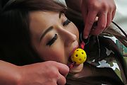 Perfect Japanese toy play with big tits Reon Otowa Photo 2