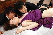 Rika Koizumi Has Three Older Men Fuck Her In Stockings Photo 3