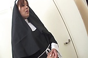 Two Guys Double Fuck MILF Nun Hitomi Kanou Photo 3