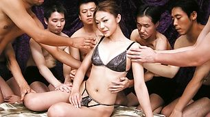 Two And Cock Fucking Has Sakura Hirota Covered In Cum