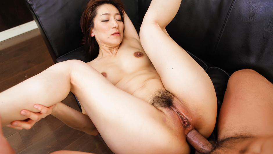 Asian milf feels cocks in each of her holes