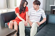 Maki Hojo takes on two guys in asian milf sex Photo 2